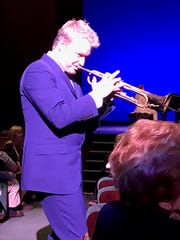 Chris Botti wandered out among the audience to perform