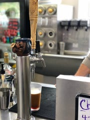 Nitro-infused cold brew on tap at SoKno Market.