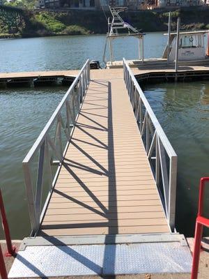 The City of Knoxvillereopened its 360-foot-long boat dock at Volunteer Landing near Calhoun's restaurant Friday, April 20, 2018.