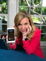 Columnist Jennifer Jolly with a robocaller.