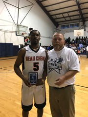 Skyler Arceneaux of Beau Chene won the dunk contest at the All-Star Basketball Showcase on Friday.