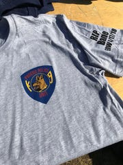 A t-shirt commemorating Bane, the police K-9 who was