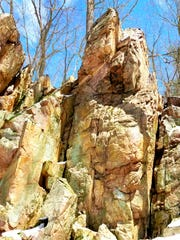 A rock outcropping in Hemlock Draw State Natural Area.