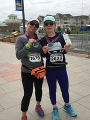 Kim and Victoria Carolan after they ran last year's