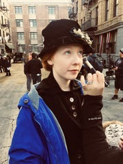 """Glennellen Anderson is photographed behind the scenes while on set of the NBC drama series """"Timeless."""""""
