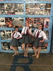Chloe Claxton, Sophia Kidd and Jada Stewart, all 11