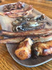 A flight of bacon is an option at Brickhouse Craft Burgers & Brews in De Pere.