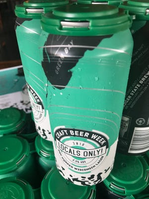 Locals Only!, a collaboration beer by Green Bay area breweries, was brewed and canned at Badger State Brewing for Green Bay Craft Beer Week 2018.