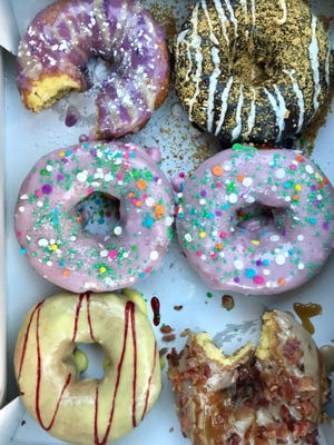 A half-dozen doughnuts from Duck Donuts at Coconut Point in Estero.