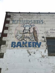 A faded painting on the side of Knudsen's Bakery on West McNichols in Detroit.