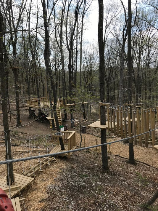 Mountain Creek TreEscape ropes course May 2018