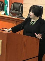 Judge Marla Parker speaks to graduates at Monday's