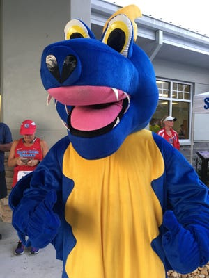 Zippy the Gecko will be raring to go during the 15th annual Run for the Gecko 5K in Melbourne on Saturday.