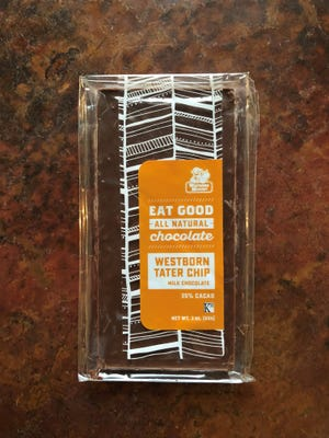 Potato chips meet fine chocolate in this candy bar produced by Birmingham Chocolate for Westborn Market.