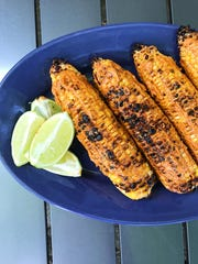 Grilled chili lime corn