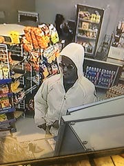 Suspected armed robber in the Montford Corner Store.