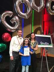Catherine Skibicki, a sixth-grader at Cab Calloway School of the Arts, is one of 53 finalists in this year's Doodle 4 Google contest.