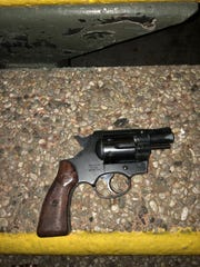 A gun allegedly found in the possession of Roman Celis, 27, of Oxnard, Wednesday night.