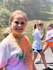 Kennedy Bryant at the Sterchi Elementary color run