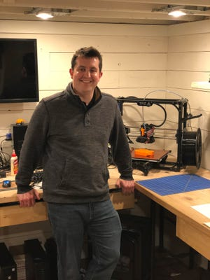 Adam Coursin of Kewaunee is a mechanical engineer who creates and develops ideas for entrepreneurs in his free time.