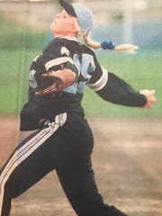 Marsi (Wadsworth) Helgeson was a standout softball