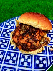 Thai My-Shroom Blended Burger by the Bearded Chef.