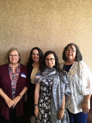 Pictured from left to right, Christine Sanchez, Catalina's grandmother; Margaret Sanchez-Maes, Catalina's mother; Catalina Sanchez-Maes; Christine Cantrell, Catalina's aunt and president of P.E.O. Chapter BV.
