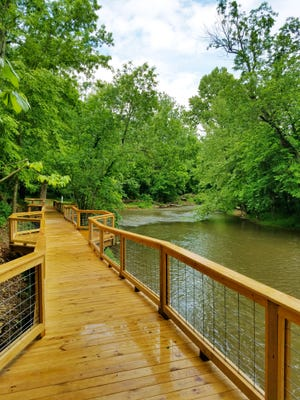 Fantastic Caverns opened up a walkway and observation deck on the Little Sac River.