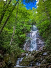 "Dills Falls is ""a very beautiful waterfall with a great"