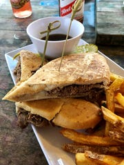 The French dip from Shark Bar & Grill on Fort Myers