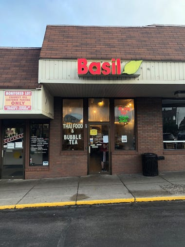 The outside of Basil Thai in West Lafayette.
