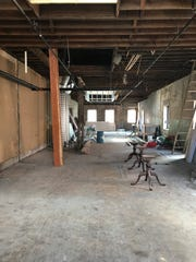 The wide second level will be home to office space and a meeting room, with thoughts of a spa and salon.