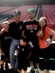 Don and Taylor Mattingly and family members gathered together last year in St. Louis.