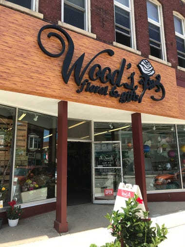 The exterior of Wood's Floral & Gifts, 36 N. Main St.