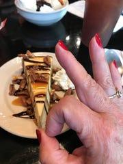The turtle cheesecake met with Lisa Karen Hartman's
