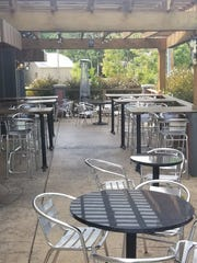 Spitfire Pub and Grill has outdoor patio seating and upscale pub food.