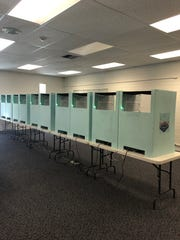 The booths in the polling center where Mesquite residents voted in the city's primary election June 12, 2018.