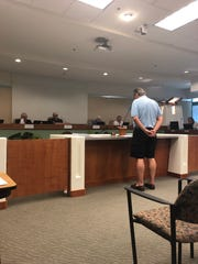 Randy Bauman speaks before Mesquite City Council about