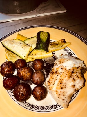 All the ingredients for this Pan Seared Grouper Plate came from Greenville's TD Saturday Market.