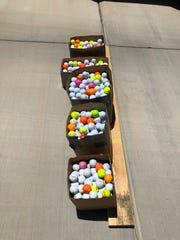 A look at the 877 golf balls Mesquite resident Robert