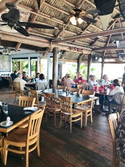 Covered dining area at Cobb's Landing in Fort Pierce.