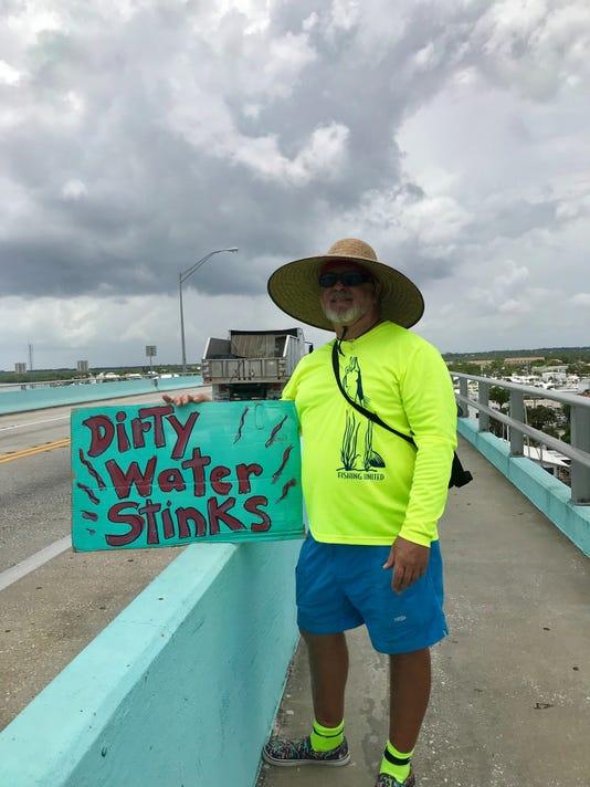 Water protester Karl Deigert