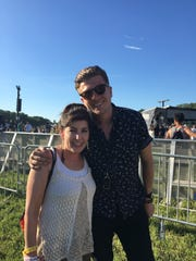 Wilmington's Christina Ballas with Bryan Shortell, lead singer of New York act Northern Faces.