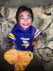 Keaton cheering for the Vikings! (submitted Poulter family photos)