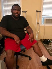 Anthony Richardson, a father of two from Trenton, was shot in the foot early Sunday morning at the Art All Night festival.