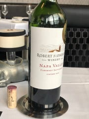 A bottle of Cabernet is among the wine selection at