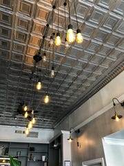 The new silver ceiling at Moonlight on the Avenue in