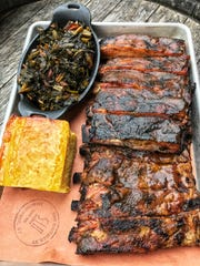 Full rack of smoked St. Louis Ribs at Smokehouse Tailgate