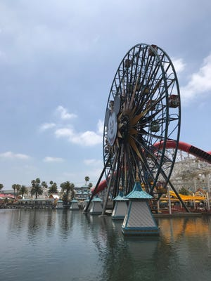 The Incredicoaster is an update of California Screamin' is unveiled at Disneyland's new Pixar Pier on June 21, 2018.