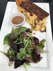 Quiche Lorraine from the Survey Cafe in Bonita Springs.